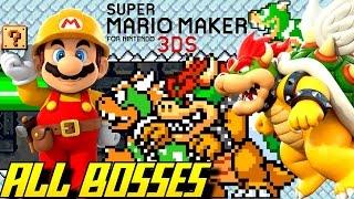 Super Mario Maker 3DS - All Bosses (Super Mario Challenge)