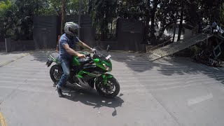 Taking Delivery Of 2016 Ninja 650 | INDIA | Stock Exhaust note.