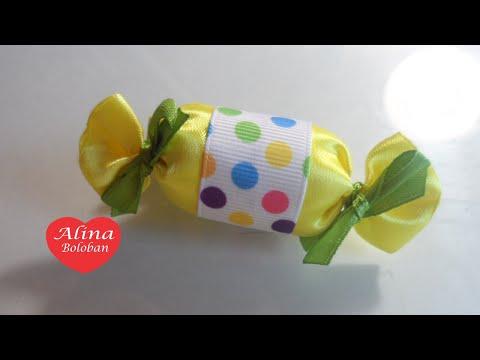 Как сделать из лент конфету