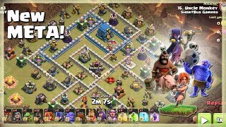 New META= 7 Bowler+30 Hogs+2 Witch+6 Valks | TH12 War Strategy #70 | COC 2018 |