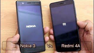 Nokia 3 Vs Redmi 4A Comparison I SpeedTest I Hindi
