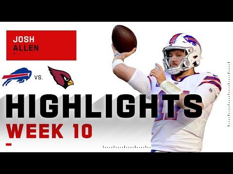 Josh Allen Highlights vs. Cardinals NFL 2020