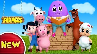 Humpty Dumpty Sat On A Wall | Nursery Rhymes | Kids Songs | Baby Rhymes by Farmees S02E164