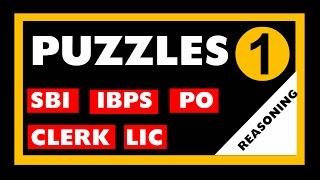 Puzzles Part -1 Reasoning (SBI / IBPS /LIC / Bank Exam / Clerk / PO etc )
