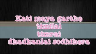 The latest song Aanshu Jhardai