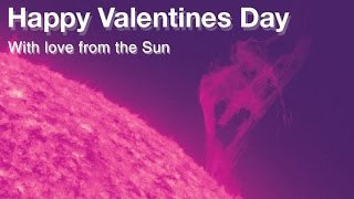 UN SAN VALENTINO SOLARE | Sunny Valentine: Heart-Shaped Solar Eruption