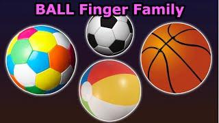 Finger Family Ball | Finger Family (Ball Family) Nursery Rhymes | Children