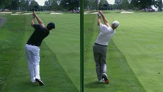 Justin Rose and Jim Furyk's unique swings are analyzed at Bridgestone