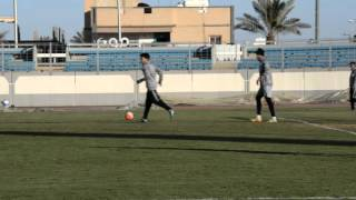 تمرين الفريق الاول  بالاستاد الرياضي استعداد للمجزل ( 6 )
