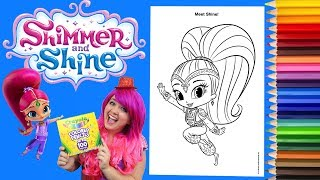 Coloring Shine Shimmer and Shine Coloring Book Page Colored Pencil Prismacolor | KiMMi THE CLOWN