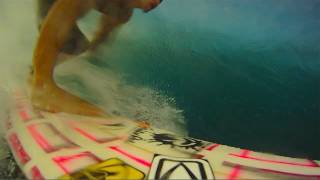 GoPro surf camera wipeout at Pipeline!