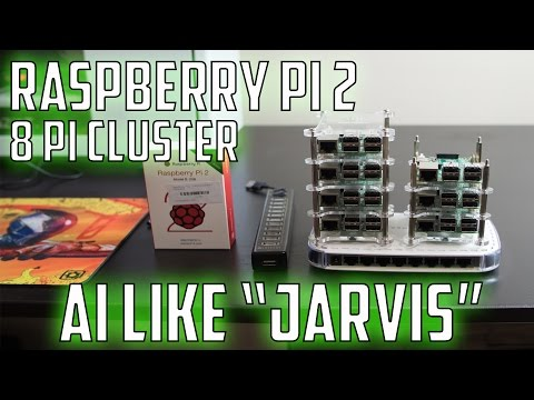 Raspberry Pi 2 Artificial Intelligence (AI) like Jarvis! - 8 Pi Cluster Overview