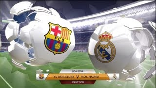 FIFA 14: FC Barcelona vs Real Madrid (Full Game)