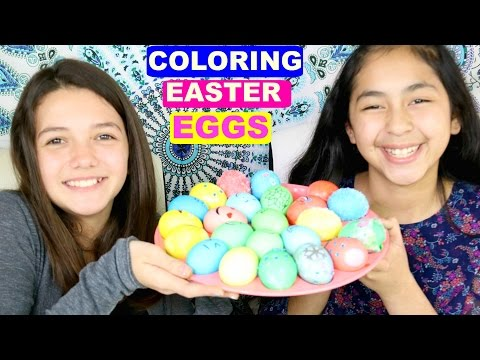 COLORING EASTER EGGS WITH MY FRIEND!!   B2cutecupcakes