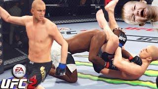 Stefan Struve Makes Little Kid RAGE! Tallest Fighter In The UFC - EA Sports UFC 2 Online Gameplay