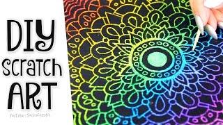 DIY SCRATCH-OFF ART - Phone Case, Mandala, & Card - SoCraftastic
