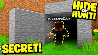 we went INVISIBLE and found this Minecraft Base! - Hide Or Hunt #3