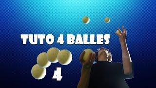 """Tutoriel """"Comment jongler à 4 balles"""" !!!"""