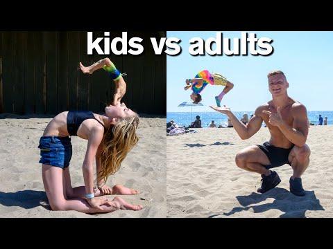 KIDS vs ADULTS All Star Gymnastics Challenge