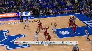 Kentucky vs Arkansas Basketball Highlights 1-7-17