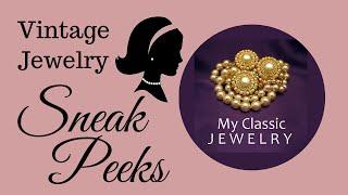 Vintage Jewelry Sneak Peek: Jomaz, Napier, Trifari, Monet, and more by My Classic Jewelry