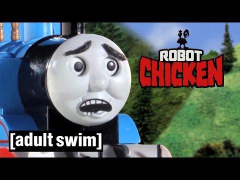 Thomas the Tank Engine gets hijacked Robot Chicken Adult Swim