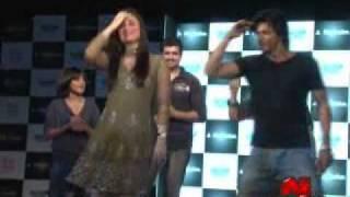 SRK and Kareena at the Press Meet of Playstation