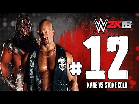 WWE2K16 ستيف اوستن ضد كين تختيم لعبة المصارعة 2016