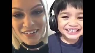 flaslight with a child - flashlight jessie j dengan anak balita - SMULE