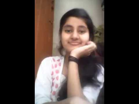 Indian cute girl funny smile message