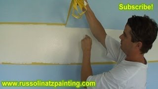 DIY Nursery Painting - Accent Wall & Horizontal Stripes (Part 9)