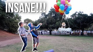 FLYING MY DOG WITH GIANT HELIUM BALLOONS!