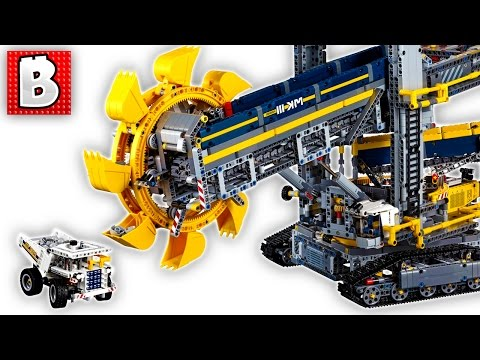 Biggest Lego Technic Set Ever Bucket Wheel Excavator 42055 Unbox Build Time Lapse Review