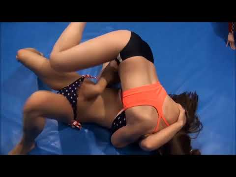 Real female wrestling match competitive women fighting ring fights catfights