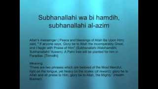 Subhanallahi wa bi hamdi subhanallahi al-azim 10x  Palm tree will be planted for him in Paradise