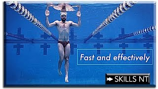 Improve your swimming technique doing vertical kick