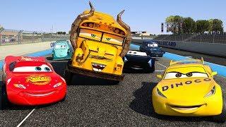 CARS Famous Race Track Racing Jackson Storm vs Miss Fritter vs Lightning McQueen Cruz Ramirez PART 5