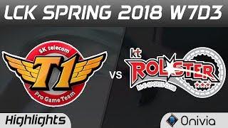 SKT vs KT Highlights Game 1 LCK Spring 2018 W7D3 SK Telecom T1 vs KT Rolster by Onivia