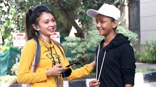 14 Year Old  Boy   First Date With Cute Girls By AJ, SRK Sweet Girls   Hindi Prank Video   Brbhai