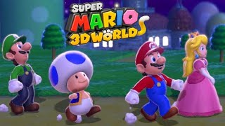 Super Mario 3D World - Full Game Walkthrough (2 Player - All Green Stars)