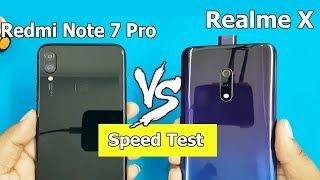 Realme X vs Redmi Note 7 Pro SpeedTest / Comparison || Antutu Scores || Best?..