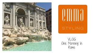 || TRAVEL VLOG: One morning in Rome || Emma Lightbown ||