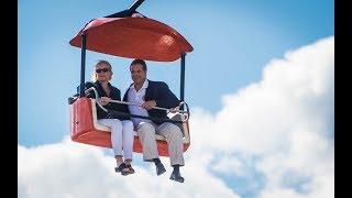 Governor Cuomo kicks his feet over the NYS Fair