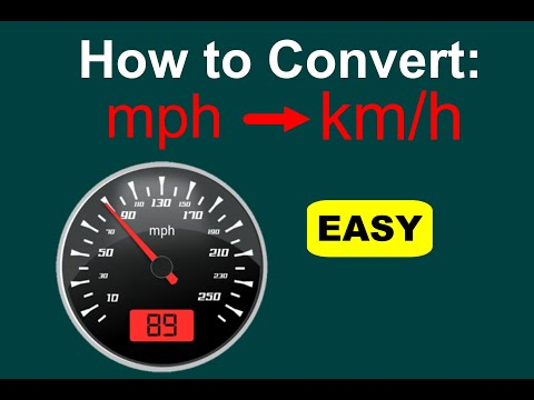 Converting mph to km/h. (mph to kph)