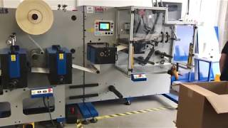 Daco TD350 Fully Automatic Turret Rewinder With 1 Colour Flexo Print Unit