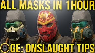 HOW TO GET ALL MASKS IN 1HOUR~ GLOBAL EVENT: ONSLAUGHT  ( THE DIVISION 1.8.1 )