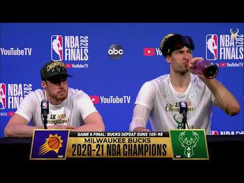 Pat Connaughton and Brook Lopez NBA Finals Game Six Media Availability 7.20.21