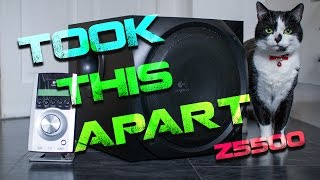 SUBWOOFER EXTRACTION ABUSE !!  Logitech Z5500