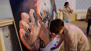 Tokyo Ghoul - Kaneki [SpeedArt 3D Live Painting] By Nino Paichadze