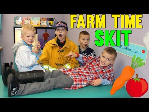 Trouble on the Farm Twin Time Playtime Skit